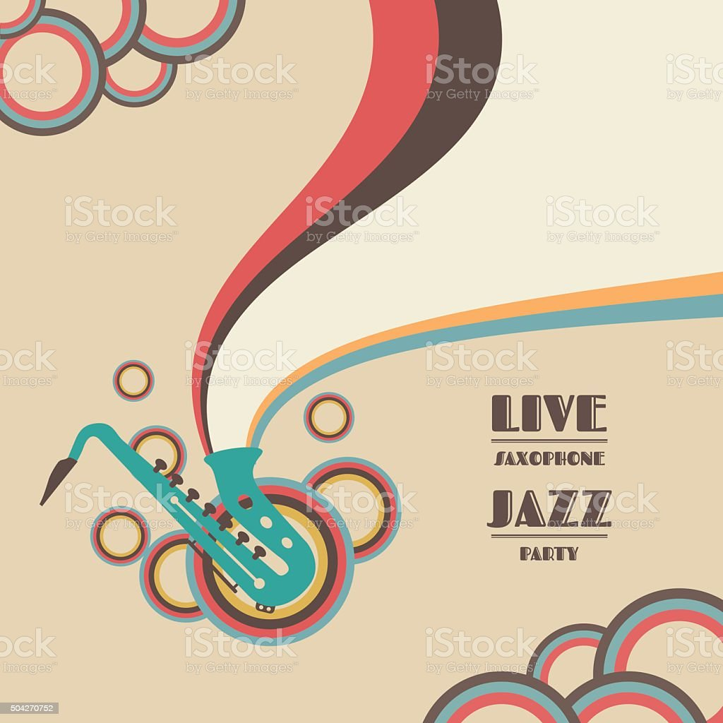 saxophone vector art illustration