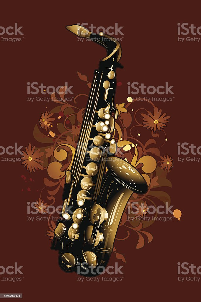 Saxophone royalty-free saxophone stock vector art & more images of abstract