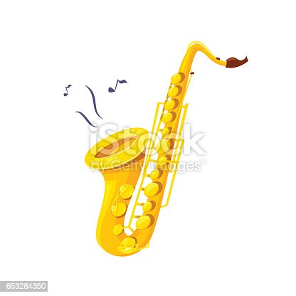 istock Saxophone vector illustration 653284350