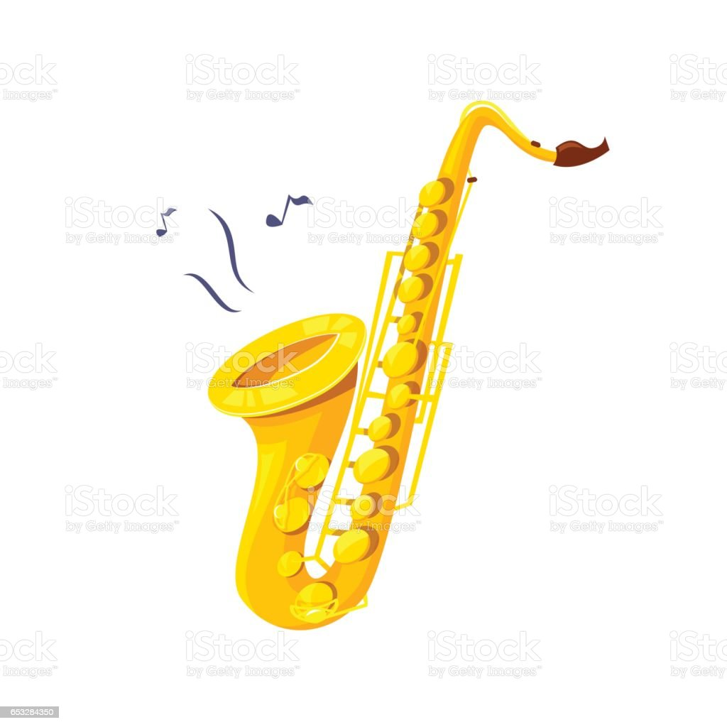Saxophone vector illustration vector art illustration