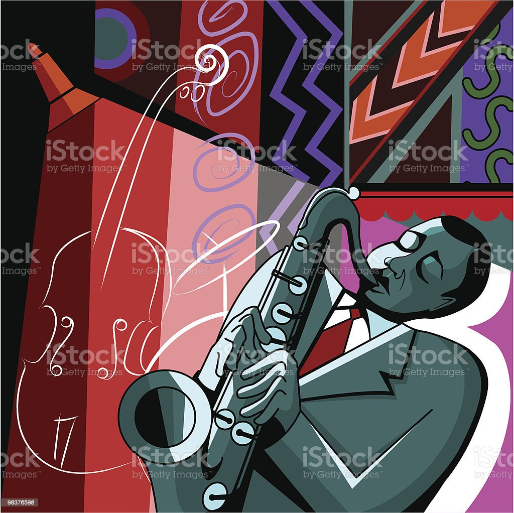 saxophonist on a colorful background royalty-free saxophonist on a colorful background stock vector art & more images of african ethnicity
