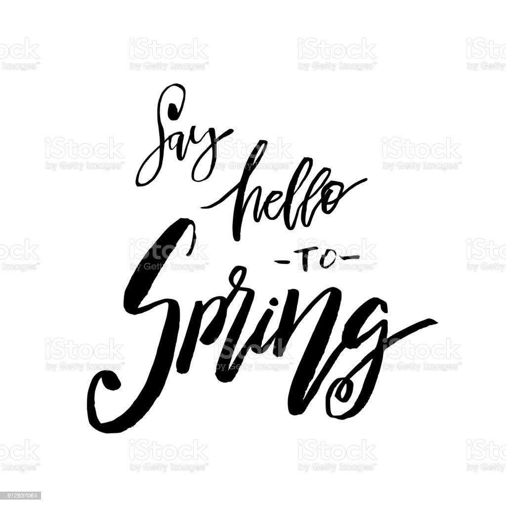 Sag Hallo Zu Frühling Hand Angebot Inspirieren Lassen
