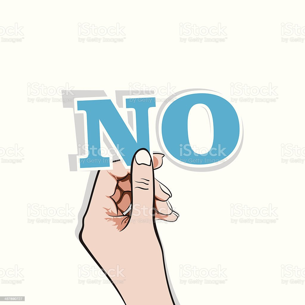 say NO banner vector art illustration