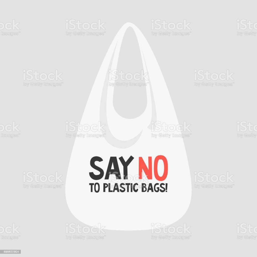 Say no to plastic bags. Female eco activist holding a globe. Ecology conversation. Flat editable vector illustration, clip art