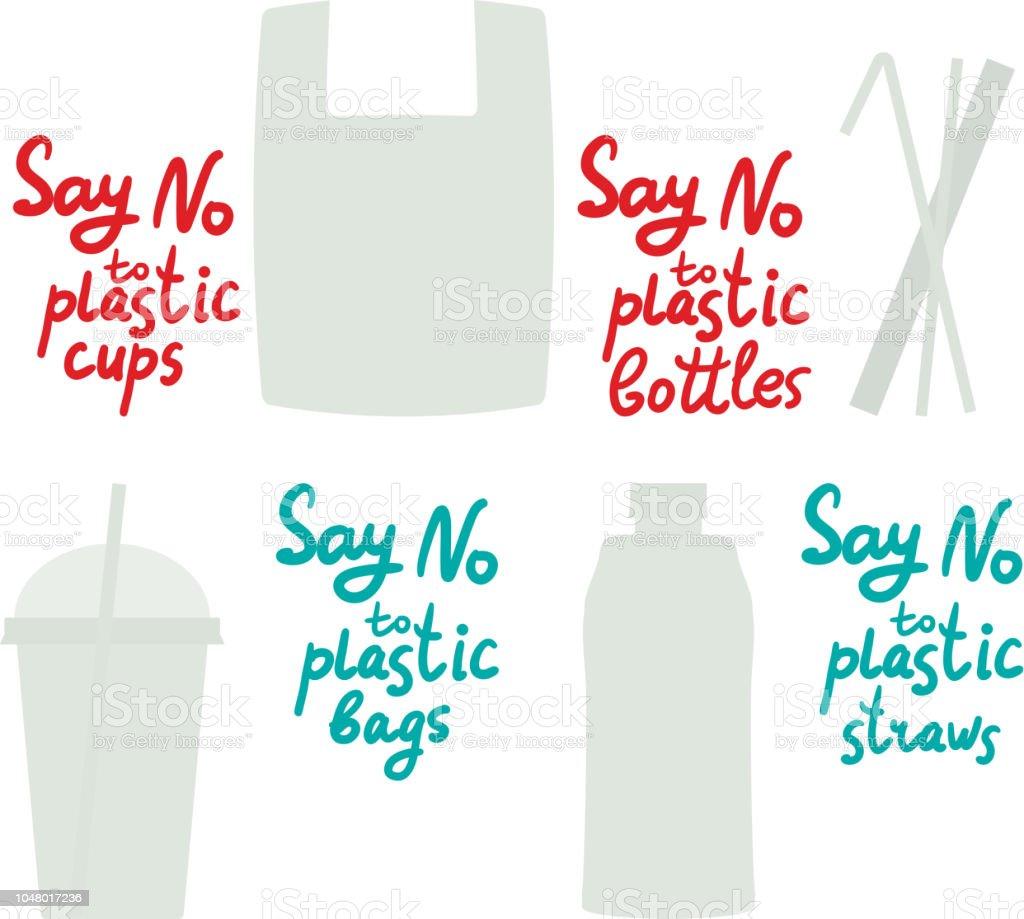 texto El de plástico Decir vasos paja en a bolsas la azul no de botellas wU4qaPZ