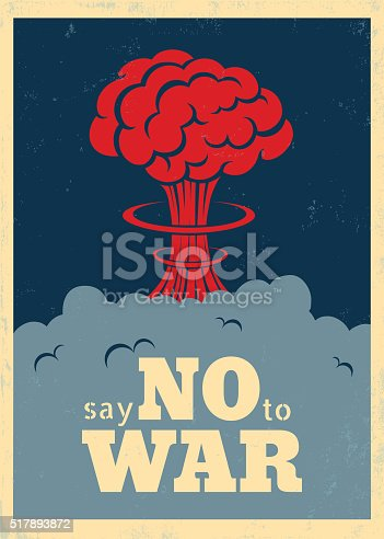 Vector vintage poster Say no to war