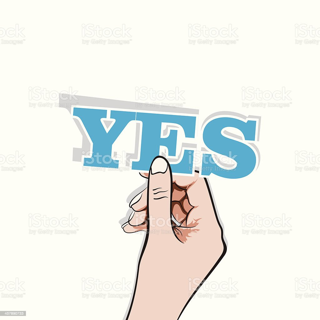 say YES banner vector art illustration