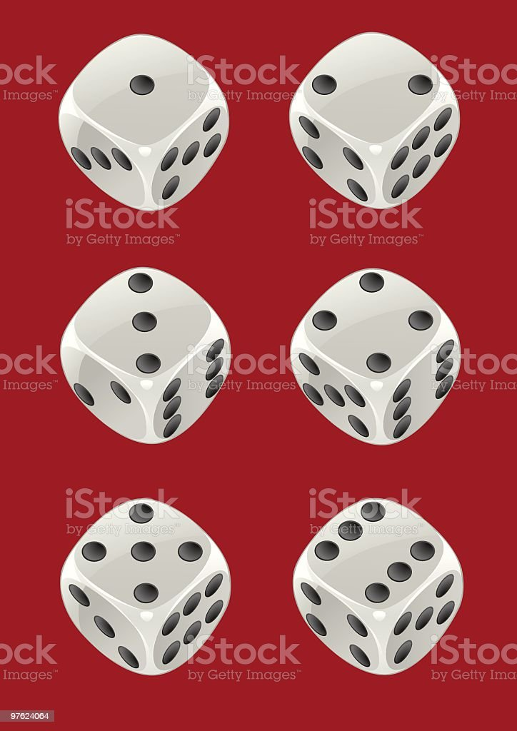 Dice 24 vector art illustration