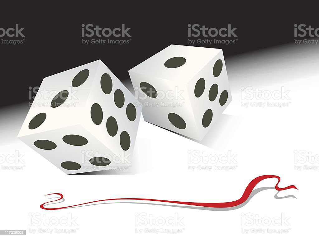 dice roll vector art illustration