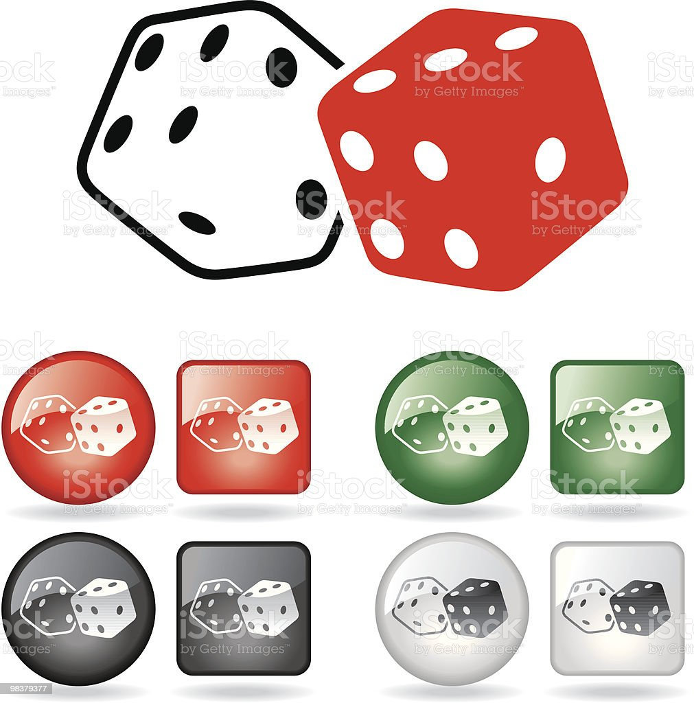 Dice royalty-free dice stock vector art & more images of addiction
