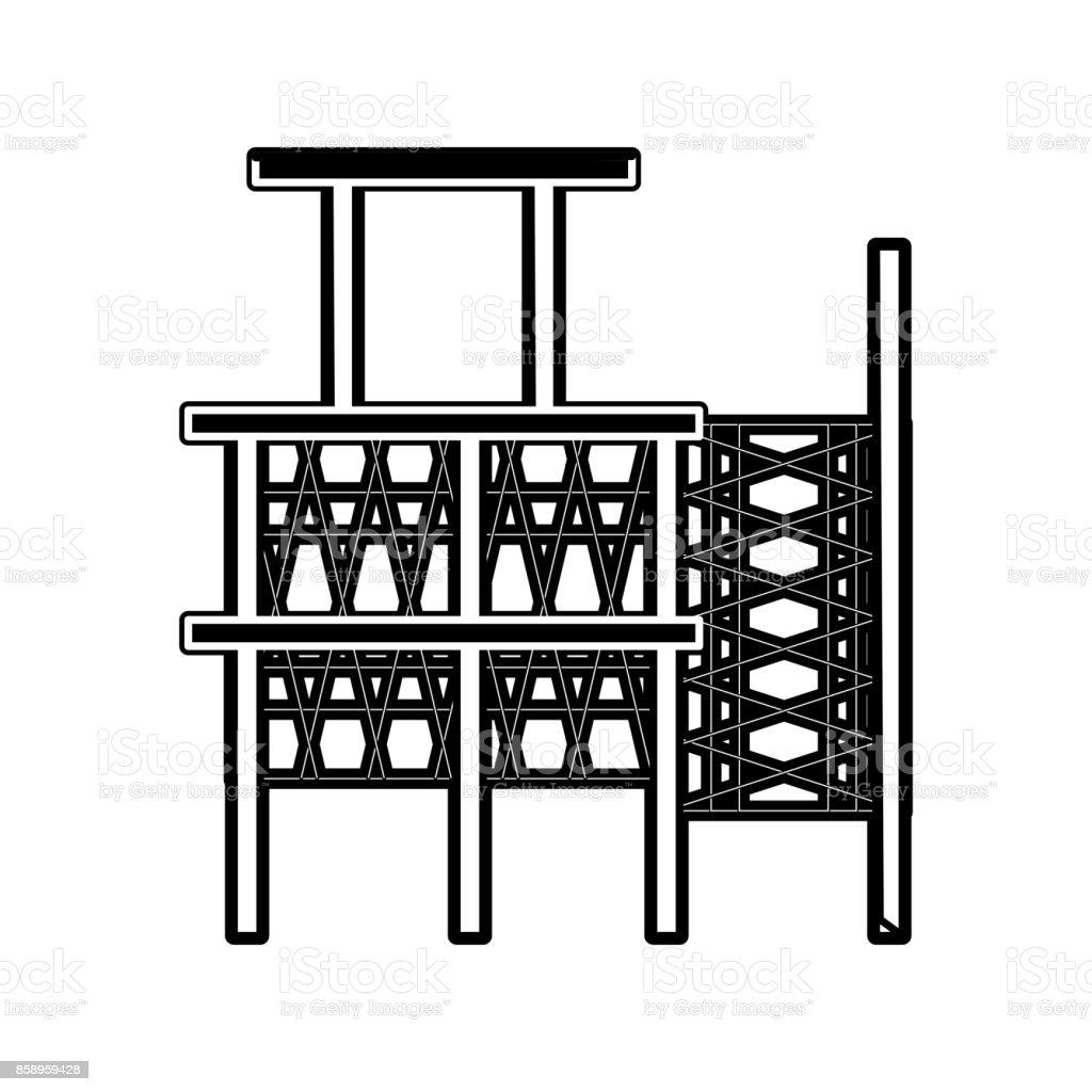 scaffold  vector illustratio vector art illustration