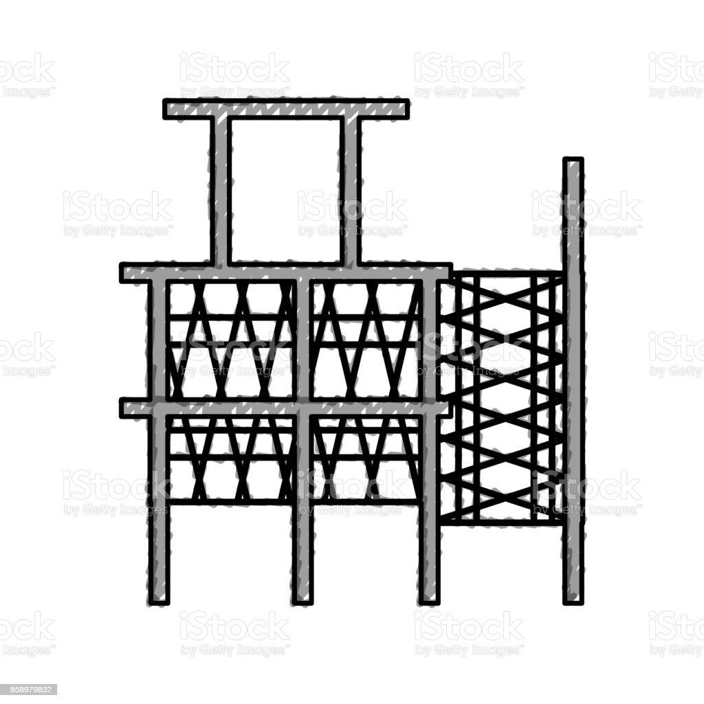 scaffold vector illustration vector art illustration