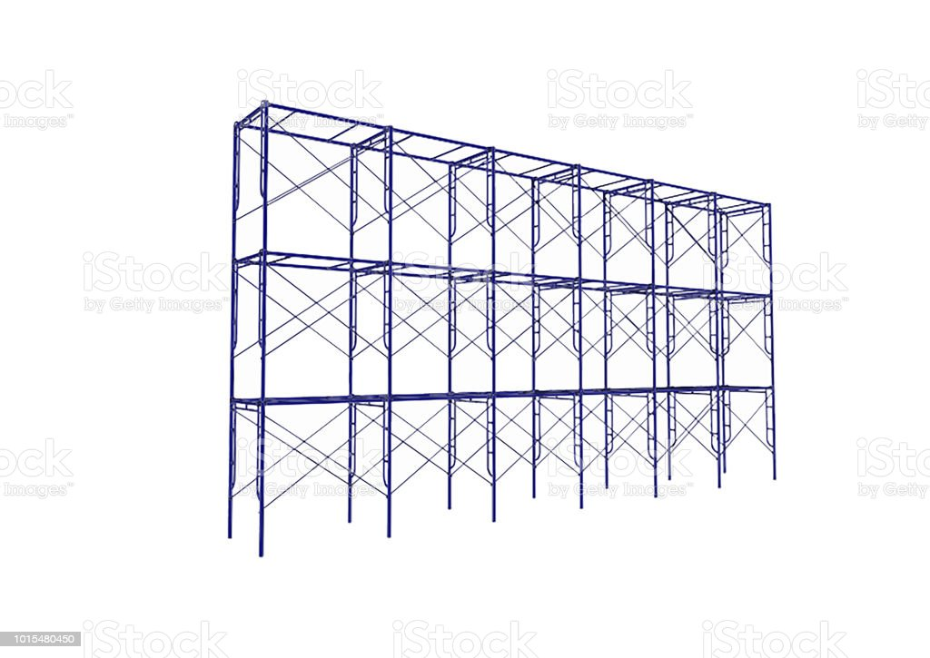 Scaffolding Frame 3 Floors Japanese Standard Type Isolated