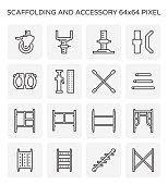 scaffolding icon set