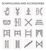 scaffolding line icon