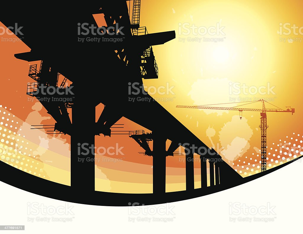 Scaffolding vector art illustration