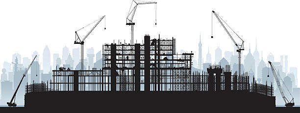 Scaffolding (Cranes and Buildings are Moveable and Complete) – Vektorgrafik