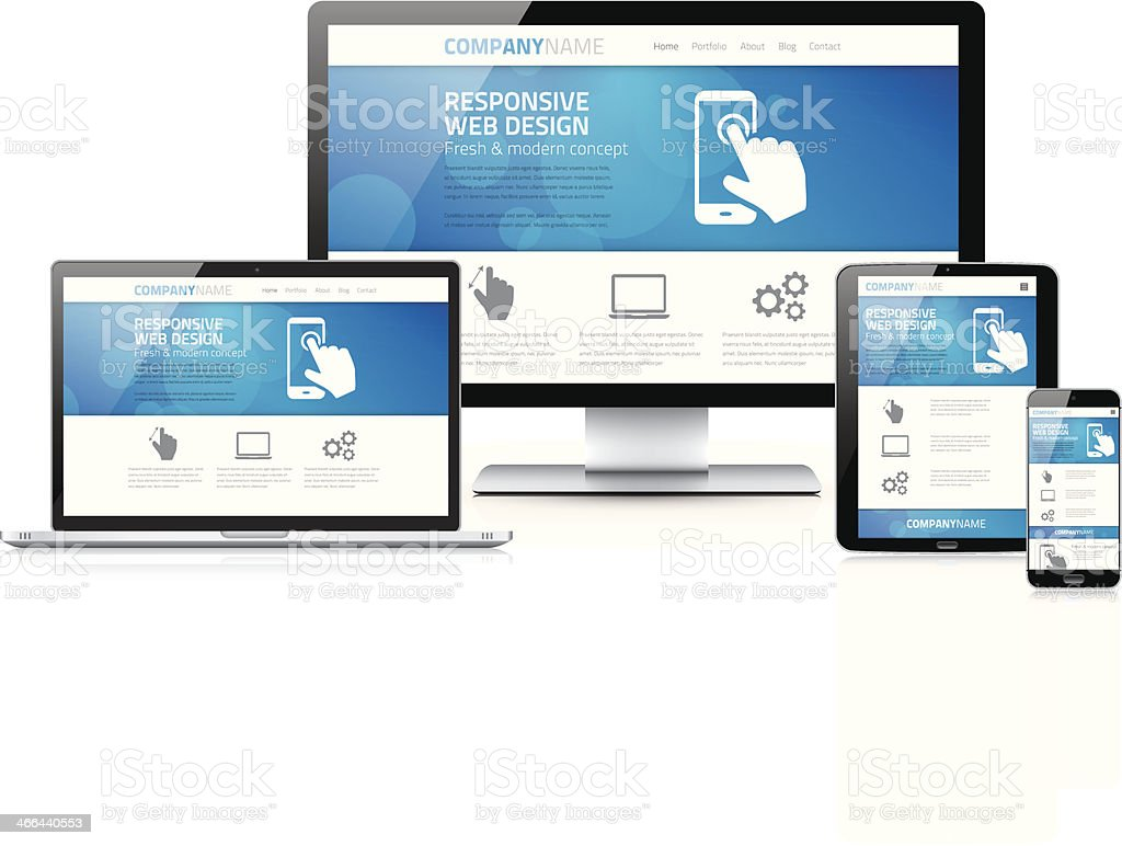 Scalable And Flexible Modern Responsive Web Design Concept