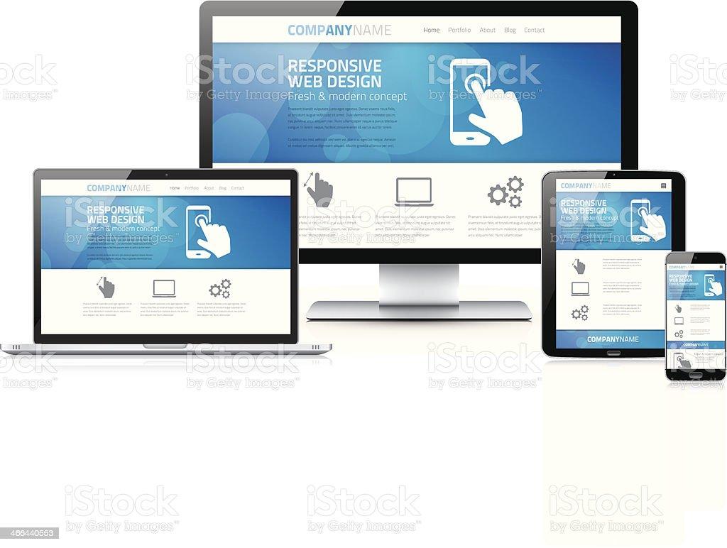 Scalable and flexible modern responsive web design concept vector vector art illustration