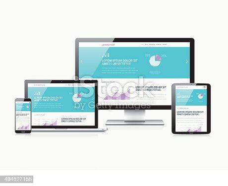 Scalable responsive web design modern electronic vector devices.