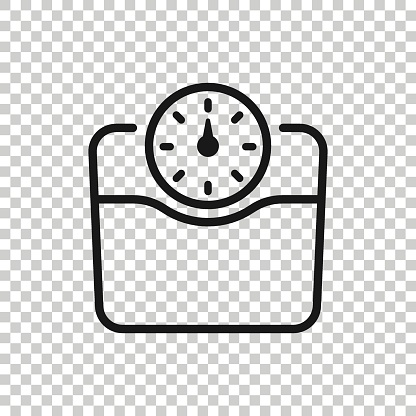 Scale icon in flat style. Balance vector illustration on white isolated background. Comparison business concept.