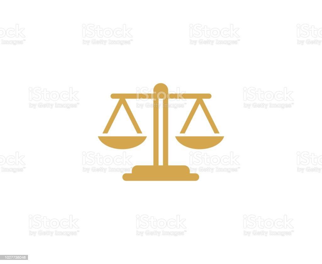 Icono de la escala - ilustración de arte vectorial