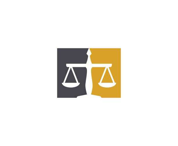 scale icon - lawyer stock illustrations, clip art, cartoons, & icons