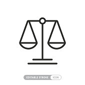 istock Scale Icon with Editable Stroke and Pixel Perfect 1253878983