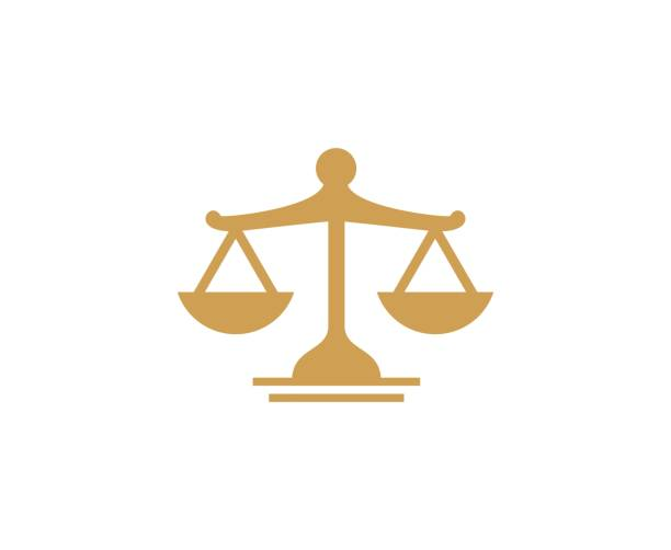 scale law icon - senegal stock illustrations