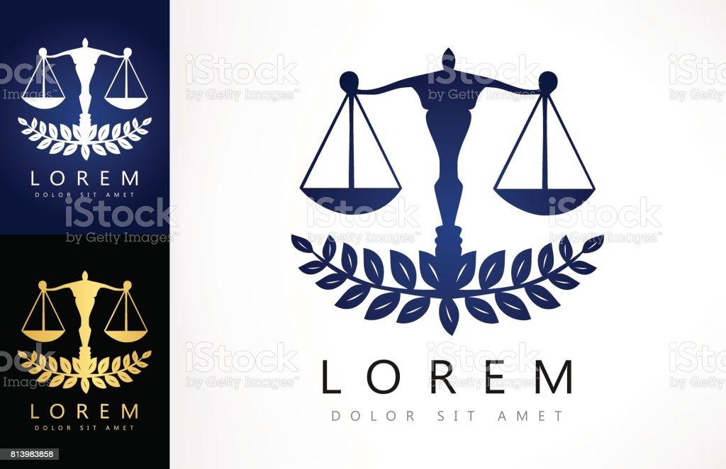 Escala del icono de la justicia - ilustración de arte vectorial