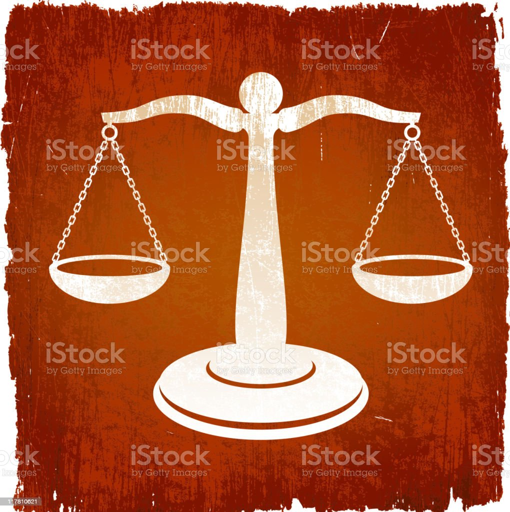 Scale Of Justice on royalty free vector Background royalty-free scale of justice on royalty free vector background stock vector art & more images of chain
