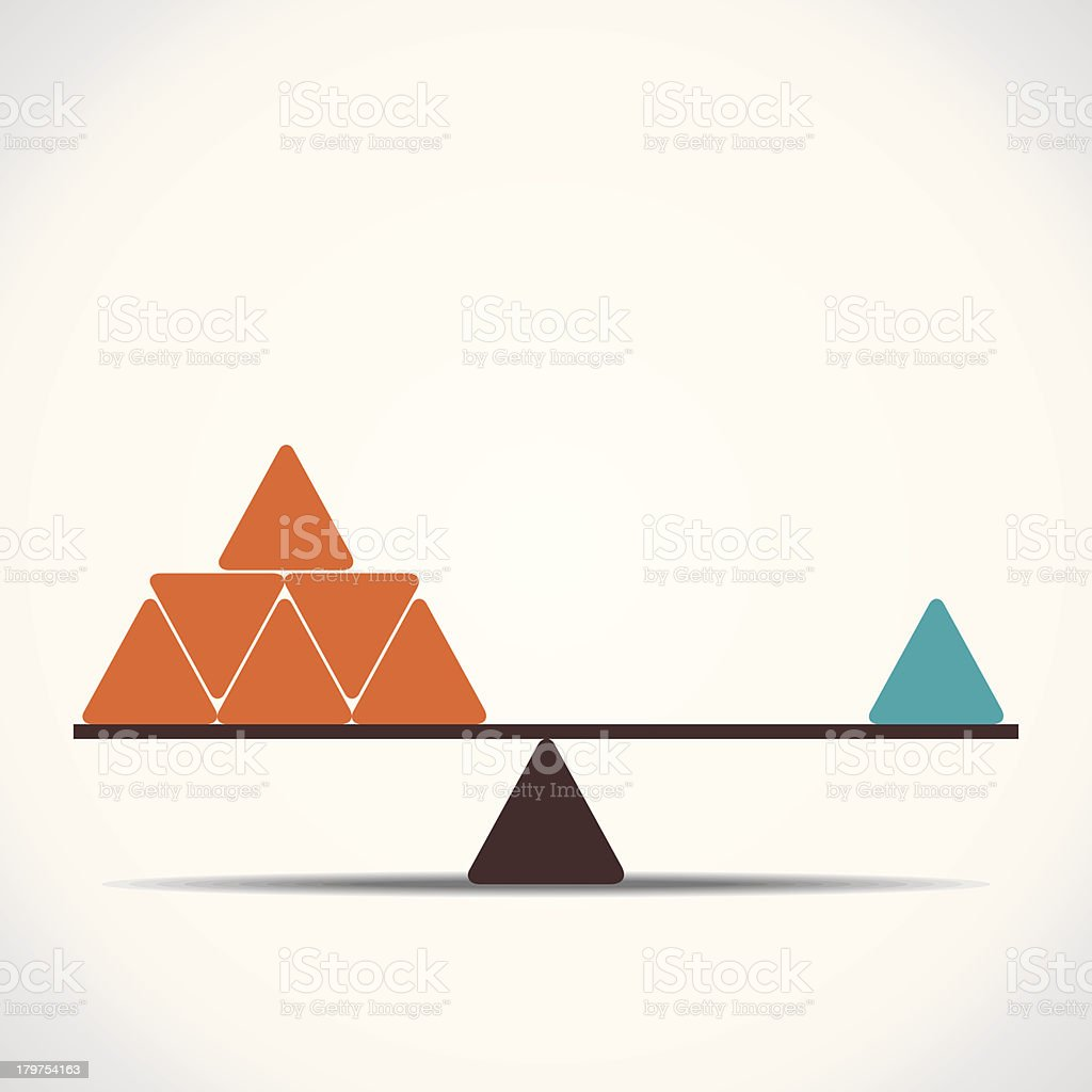 scale or balance vector art illustration