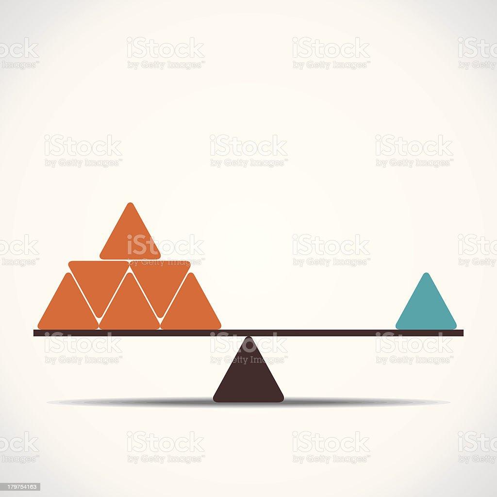 Waage oder Gleichgewicht – Vektorgrafik