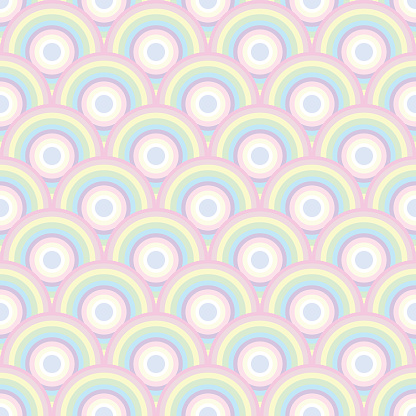 Scale pastel seamless colorful vector pattern background