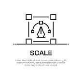 Scale Vector Line Icon - Simple Thin Line Icon, Premium Quality Design Element