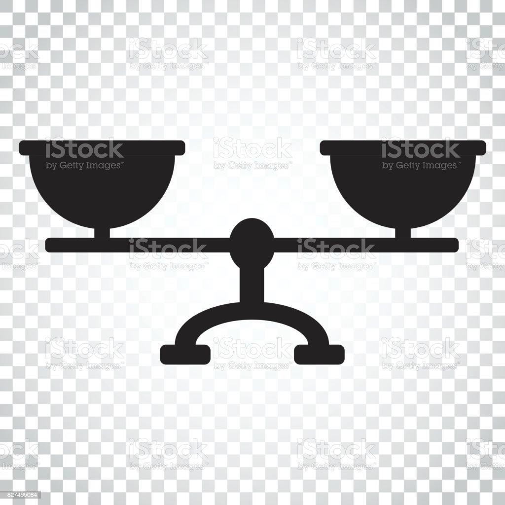 Waage Waage Vektor Icon Waage Gleichgewicht Zeichen Abbildung ...
