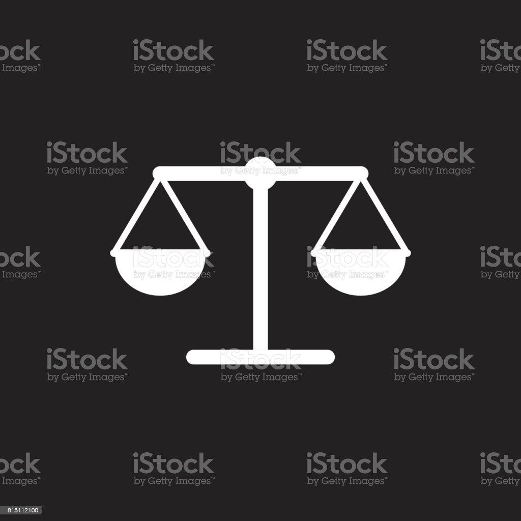 Waage Waage Vektor Icon Waage Gleichgewicht Zeichen Abbildung Stock ...
