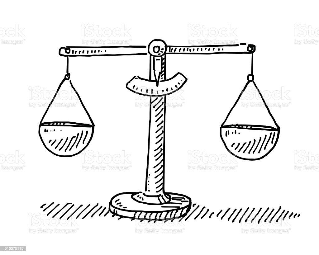 Balance balance dessin vecteurs libres de droits et plus d 39 images vectorielles de balance istock - Dessin de balance ...