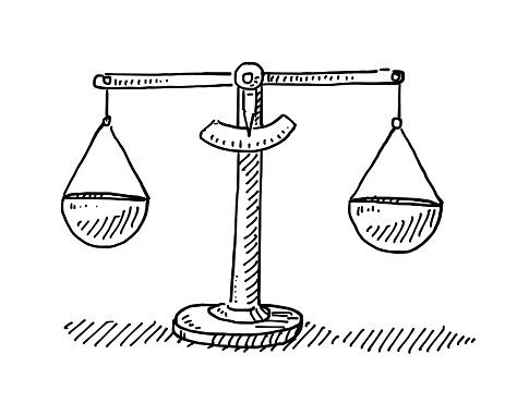 Scales Balance Drawing