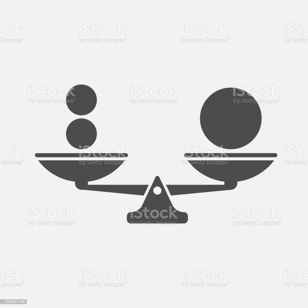 Scales balance icon isolated on white background. Vector illustration. Scales balance icon isolated on white background. Vector illustration. Eps 10. Abstract stock vector