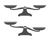 Scales . Balance icon. Vector illustration