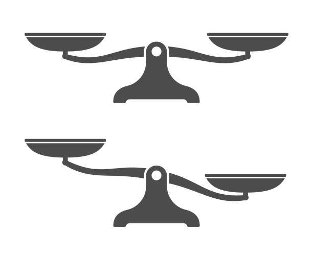 scales . balance icon. vector illustration - weight scale stock illustrations