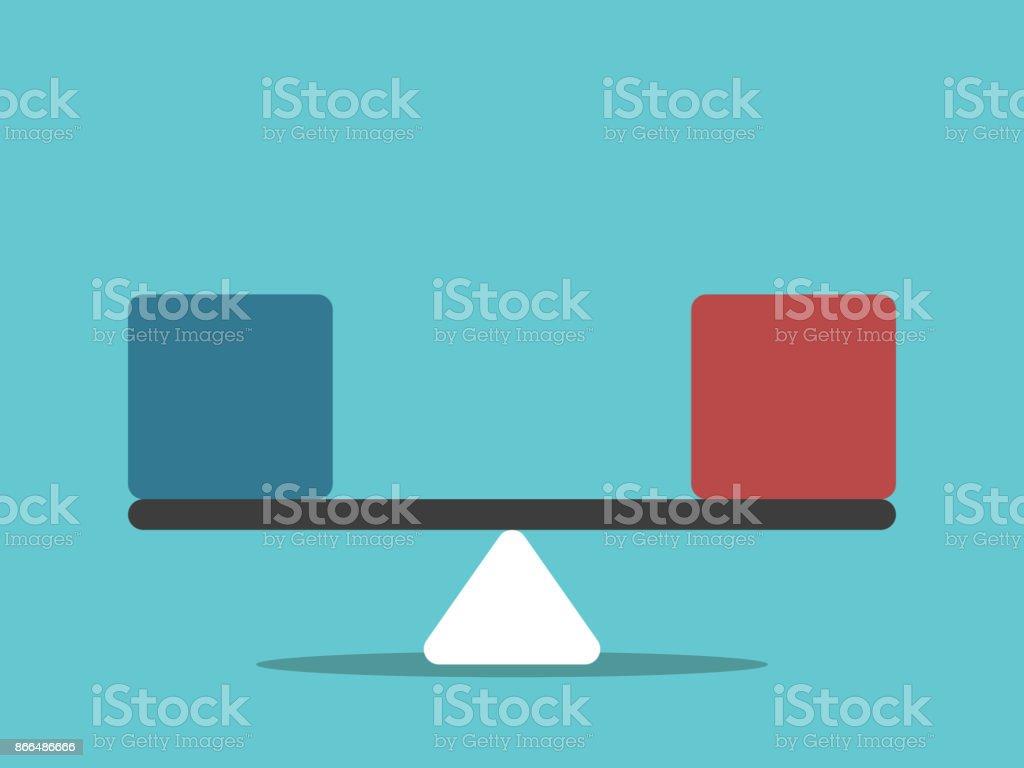 Cubes rouges échelles, bleu, cubes rouges échelles bleu vecteurs libres de droits et plus d'images vectorielles de abstrait libre de droits