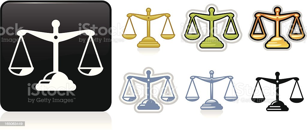 Scales Icon royalty-free scales icon stock vector art & more images of balance