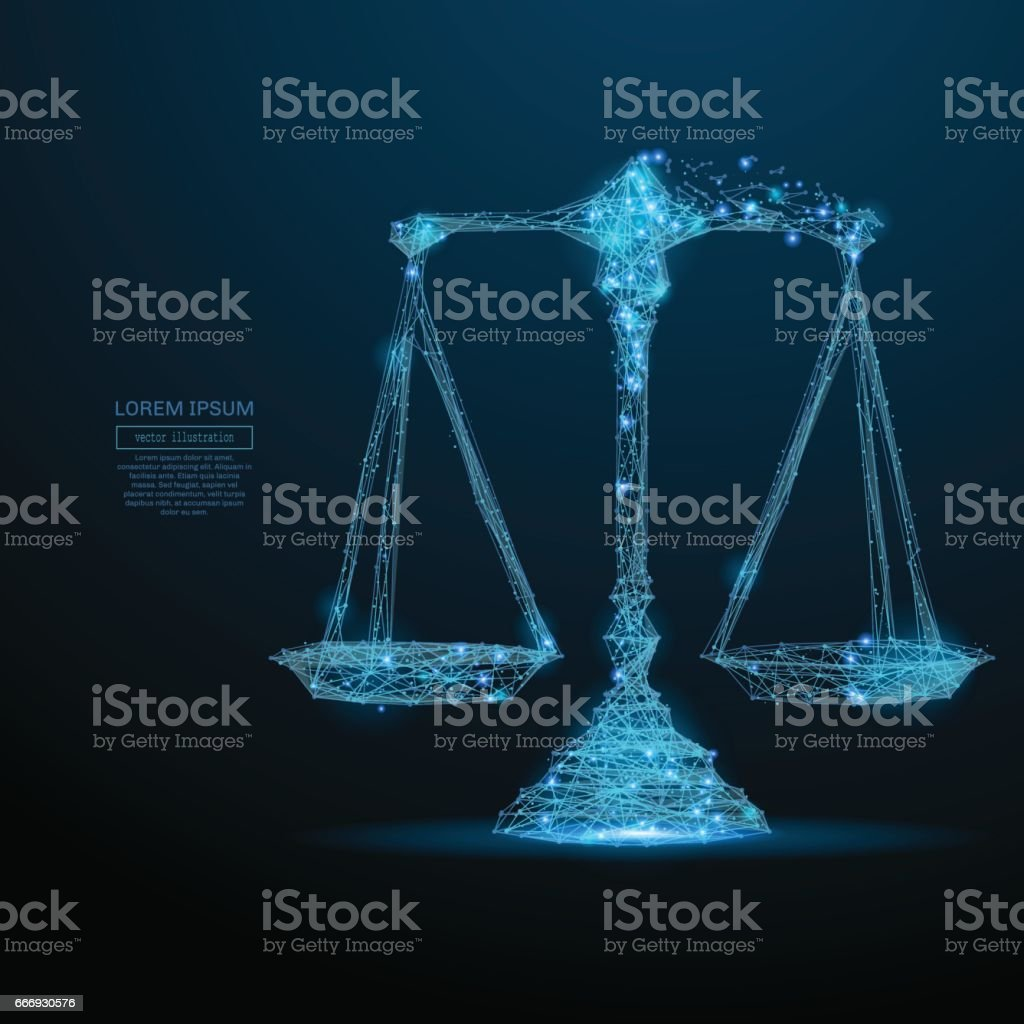scales low poly blue vector art illustration