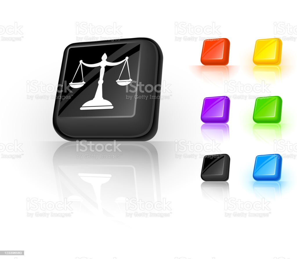 scales of justice 3D button design royalty-free scales of justice 3d button design stock vector art & more images of black color