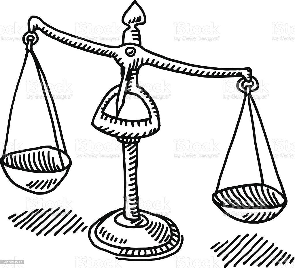 Scale Della Giustizia Disegno Immagini Vettoriali Stock E Altre