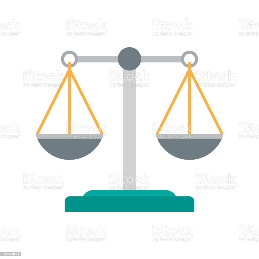 Scales of justice icon. vector art illustration