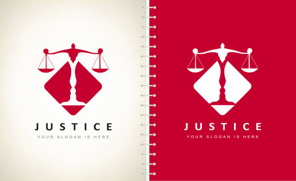 bildbanksillustrationer, clip art samt tecknat material och ikoner med skalor för rättvisa vektor design. - lawyer