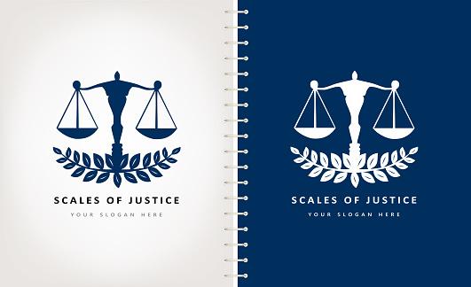 Scales of justice vector design